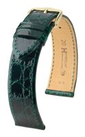 Hirsch Genuine croco - darkgreen
