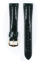 Hirsch London - darkgreen shiny aligator