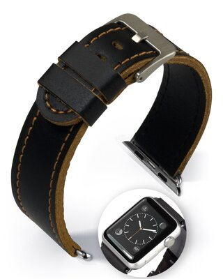 Dallas - Smart Apple Watch - zlatohnedý - kožený remienok